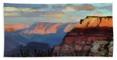 Evening Light At The Grand Canyon Beach Towel