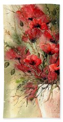 Everything About Poppies I Beach Towel