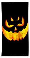 Evil Glowing Pumpkin Beach Sheet