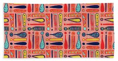 Exclamations Pattern Beach Towel
