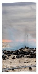 Beach Towel featuring the photograph Explosive Sea 5 by Jeff Sinon