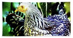 Eye Of The Chicken, Heads Or Tails Beach Towel