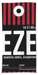 Eze Buenos Aires Luggage Tag II Beach Towel