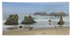 Beach Towel featuring the photograph Face Rock Trail, Bandon Beach, Oregon by Dawn Richards
