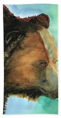Face To Face Bear Beach Towel