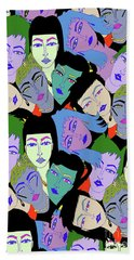 Faces Repeated Beach Towel