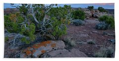 Fading Color At Green River Overlook In Canyonlands Beach Towel