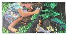Beach Towel featuring the painting Fairy World by Jeanette Jarmon