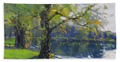 Fall At Bond Lake Park Beach Towel