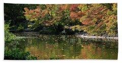 Fall At The Japanese Garden Beach Sheet