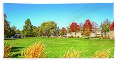 Beach Towel featuring the photograph Fall Colors In Boise, Idaho by Dart and Suze Humeston