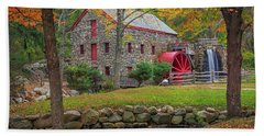 Fall Foliage At The Grist Mill Beach Towel