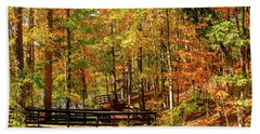 Fall Hike At Mirror Lake Beach Towel