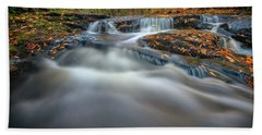 Beach Towel featuring the photograph Fall Morning At Vaughan Brook. by Rick Berk