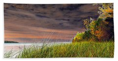 Fall On Lake Superior Beach Towel