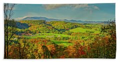 Fall Porch View Beach Towel