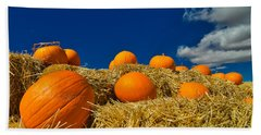 Fall Pumpkins Beach Towel