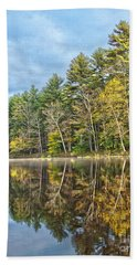 Fall Reflection Beach Sheet