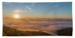 Beach Towel featuring the photograph Fall Sunrise by Norman Peay