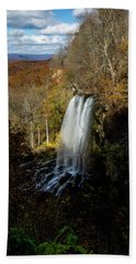 Beach Towel featuring the photograph Falling Spring Falls by Pete Federico