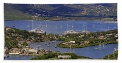 Beach Towel featuring the photograph Falmouth Harbour by Tony Murtagh