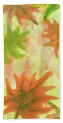 Fanciful Fall Leaves Beach Sheet