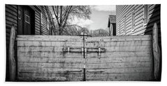 Beach Towel featuring the photograph Farm Gate by Steve Stanger