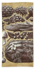 Farmer's Market - Sepia Beach Towel