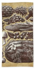 Farmer's Market - Sepia Beach Towel