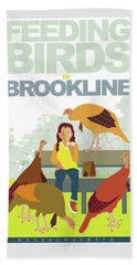 Feeding The Birds Beach Towel
