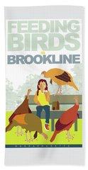 Feeding The Birds Beach Sheet