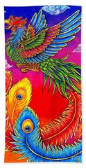 Fenghuang Chinese Phoenix Beach Towel