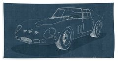 Ferrari 250 Gto - Blueprint Beach Towel