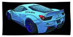 Ferrari 458 Liberty Walk Beach Sheet