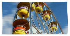 Ferris Wheel On Mosaic Blurred Background Beach Towel