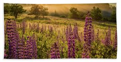 Beach Towel featuring the photograph Fields Of Lupine by Jeff Sinon