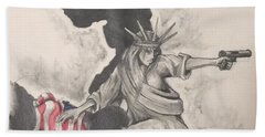 Fighting For Liberty  Beach Towel