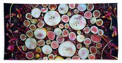 Figs Pears And Pomegranates Beach Sheet