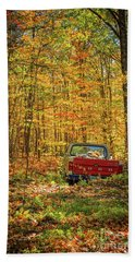 Final Resting Place - Old Ford In The Forest Beach Towel