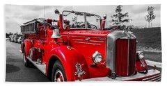 Fire Engine Beach Sheet