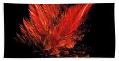 Fire Feathers Beach Towel