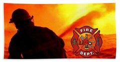 Fire Fighting 6 Beach Towel