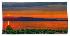 Fire Rock Beach Towel