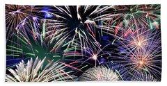 Fireworks Grand Finale Beach Towel