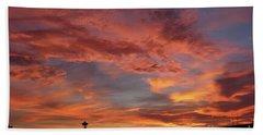 Firey Red Seattle Sky Beach Sheet