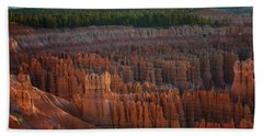 Beach Towel featuring the photograph First Light On The Hoodoo Inspiration Point Bryce Canyon National Park by Nathan Bush