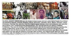 First Native Americans Were Indigo Twa Black Afrikans Beach Sheet