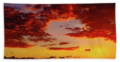 First November Sunset Beach Towel