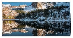 First Snow At Lake Blanche Beach Towel