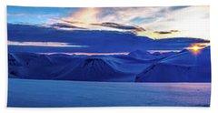 First Sun After Polar Night Beach Sheet